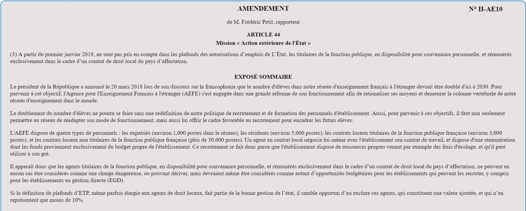 Projet De Loi De Finances 2019 Mon Amendement Adopte A L Unanimite