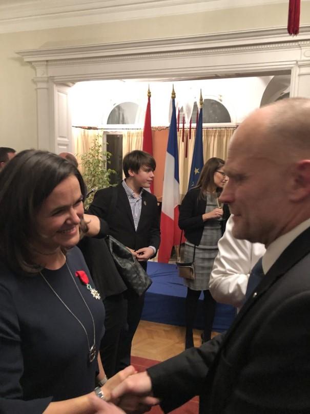 Avec la Secrétaire d'Etat hongroise Katalin Novak